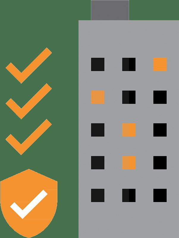 Video consult Illustration immeuble sécurisé